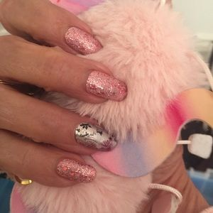 Color Street Fall Floral, Glitter Pink Polish Duo